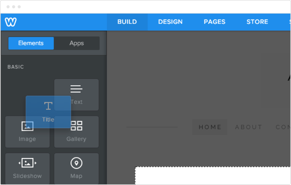 weebly drag and drop builder
